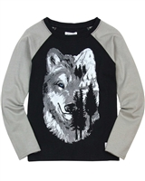 Art and Eden Boy's T-shirt with Wolf Print