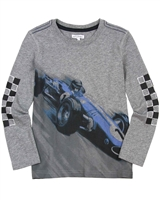 Art and Eden Boy's T-shirt with Race Car Print