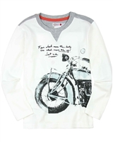 Boboli Boys T-shirt with Motorcycle Print