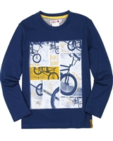 Boboli Boys T-shirt with Bicycle Print