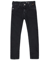 Boboli Boys Slim Fit Black Denim Pants