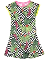 B.Nosy Dress in Tropical Print