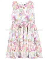 Creamie Girls Floral Print Dress Bitten