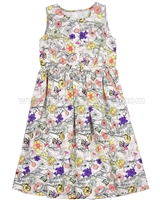 Creamie Girls Floral Print Dress Cruise