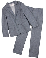 Deux par Deux Boys' Jacket and Pants Set Dark Gray Aristo Kids