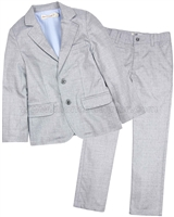 Deux par Deux Gray Jacket and Pants Cool Class