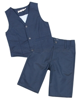 Deux par Deux Blue Vest and Pants Cool Class