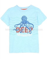 Deux par Deux Blue T-shirt with Print Le Grand Bleu