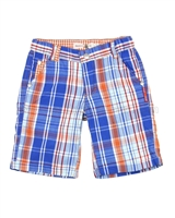 Deux par Deux Plaid Bermuda Shorts Le Grand Bleu