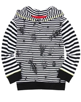 Deux par Deux Striped Hooded T-shirt Bugs Bebop