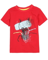 Deux par Deux Red T-shirt with Print  Bugs Bebop