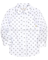 Deux par Deux Printed Shirt Monkey See Monkey Do