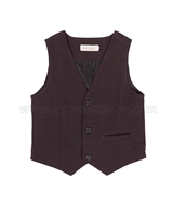 Deux par Deux Burgundy Vest Suit up