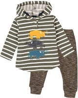 Deux par Deux Baby Brown Boys' Two-piece Hey, Buffalo Hill