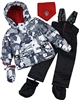 Deux par Deux Little Boys' 2-Piece Snowsuit Mechant Look Black