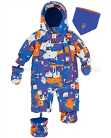 Deux par Deux Baby 1-Piece Snowsuit Mechant Look Blue