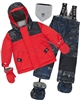 Deux par Deux Little Boys' 2-Piece Snowsuit Hey Mr Dj Red
