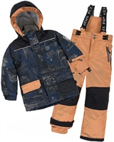 Deux par Deux Boys' 2-Piece Snowsuit Hey Mr Dj Brown