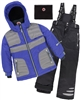 Deux par Deux Boys' 2-Piece Snowsuit Off the Mark Blue