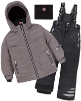 Deux par Deux Boys' 2-Piece Snowsuit Off the Mark Gray