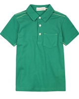 Deux par Deux Polo in Green Woody Buddy