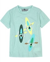 Deux par Deux T-shirt with Print in Aqua