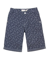 Deux par Deux Printed Bermuda Shorts in Navy Only Pirates Allowed