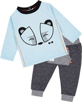 Deux par Deux Baby Boys' Top and Pants Set Between Heaven and Earth