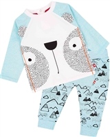 Deux par Deux Baby Boys' Top and Printed Pants Set Between Heaven and Earth