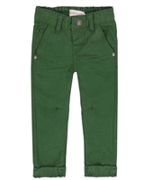 Deux par Deux Boys Green Twill Pants Forest Fest