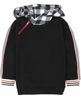 Deux par Deux Boys Hooded Sweatshirt Foodies Alert