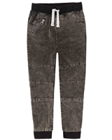 Deux par Deux Boys Stone Washed Corduroy Pants Foodies Alert