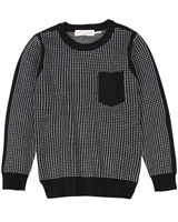 Deux par Deux Boys Knit Pullover Night King