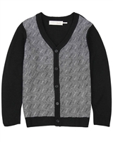 Deux par Deux Boys Knit Cardigan Night King