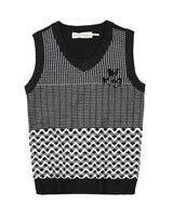 Deux par Deux Boys Knit Vest Night King