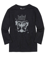 Deux par Deux Boys Black T-shirt Night King