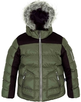 Deux par Deux Boys Green Puffer Jacket