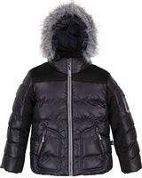 Deux par Deux Boys Black Puffer Jacket