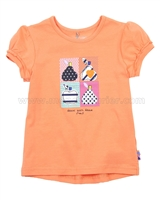Deux par Deux T-shirt Orange Apples Meet Pears