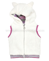 Deux par Deux Hooded Vest Fluffy Friends