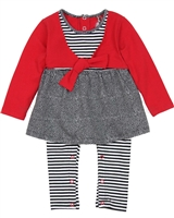 Deux par Deux Baby Girls' Skirted Overall Call Me Baby