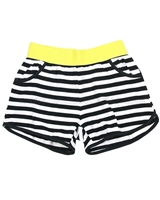 Deux par Deux Striped Shorts Jungle Pop