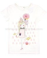 Deux par Deux T-shirt with Print Rose Bonbon