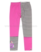 Deux par Deux Pink Two-colour Leggings Cuddles and Hugs