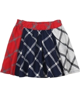 Deux par Deux Plaid Skirt Class Act