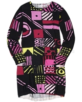 Deux par Deux Abstract Print Knit Dress an Eye on Fashion