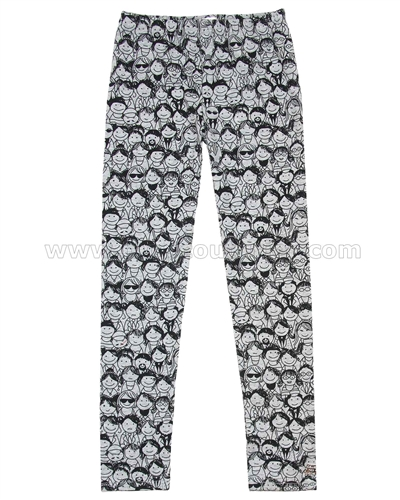 Deux par Deux Faces Print Leggings an Eye on Fashion