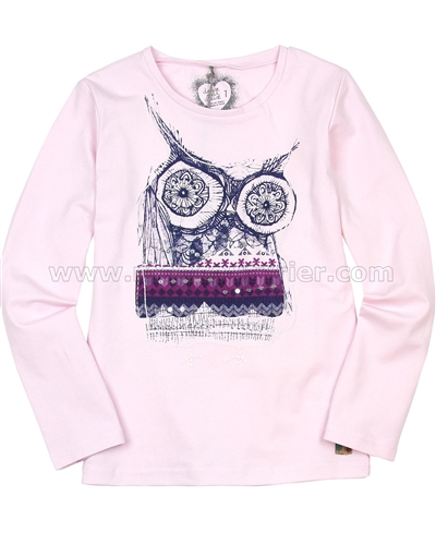 Deux par Deux Pink Top with Print Be Hoo You Are