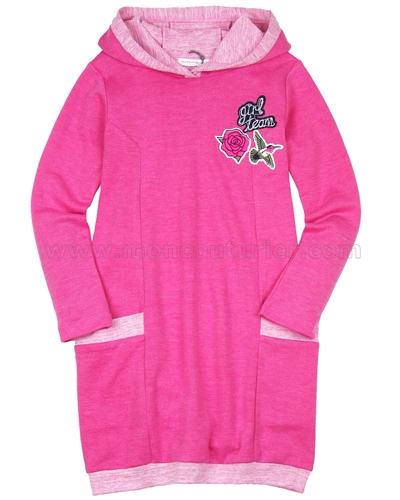 Deux par Deux Fleece Dress Rock n Rose