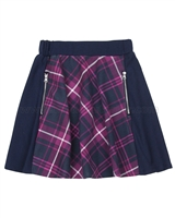 Deux par Deux Plaid Skirt Rock n Rose